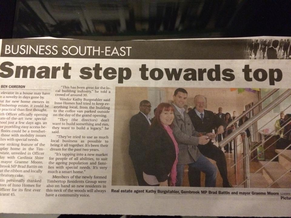 Article on InnoHomes published in the Pakenham Gazette